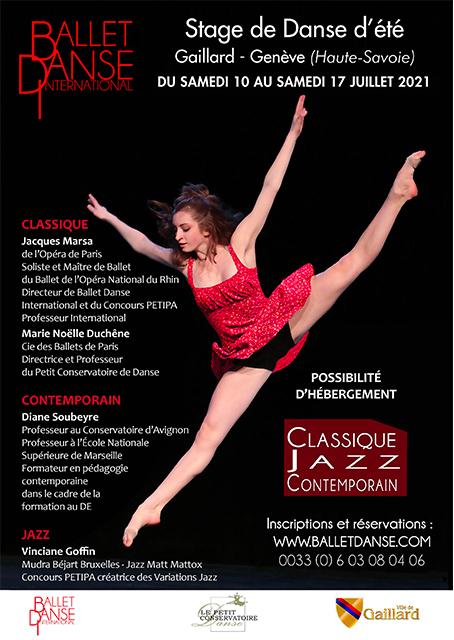 Stage de danse d'été Gaillard – Genève du 10 au 17 juillet 2021